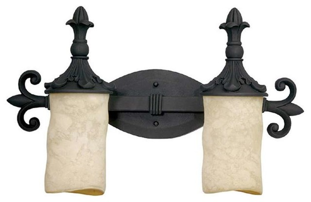 Wrought Iron Bathroom Lighting Somerset Wrought Iron Organic Sculpted 3 Light Vanity