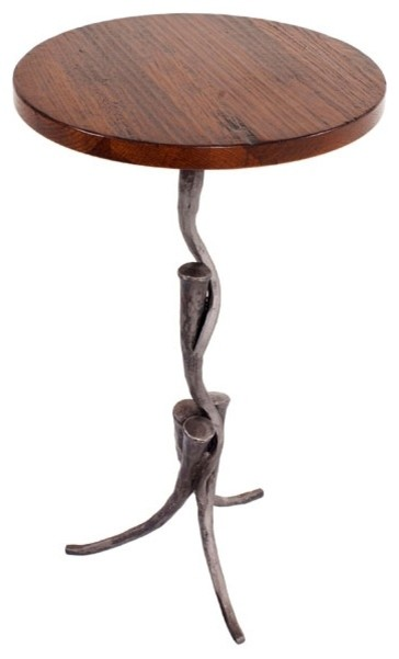 Tangle drink pedestal oil rubbed bronze maple cinder for Table 52 petroleum