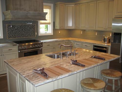 Brown Fantasy Granite Kitchen Countertops Ideas