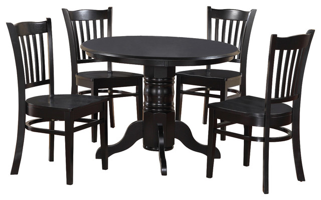 3 piece small kitchen table set round table and 2 kitchen for Traditional kitchen table sets