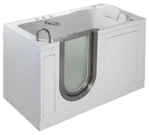 Ella 55 X30 Deluxe Walk In Ada Compliant Bathtub Left Soaker C