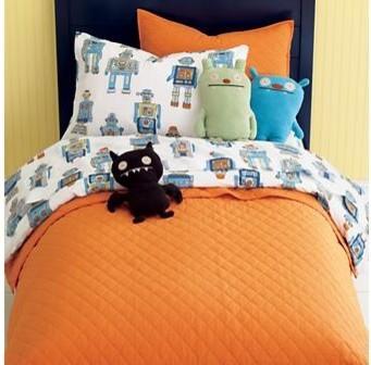 kids cotton robot bedding contemporary kids bedding by the land of nod. Black Bedroom Furniture Sets. Home Design Ideas
