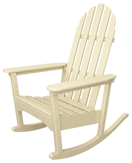 classic adirondack rocker sand all weather outdoor recycled plastic furniture. Black Bedroom Furniture Sets. Home Design Ideas