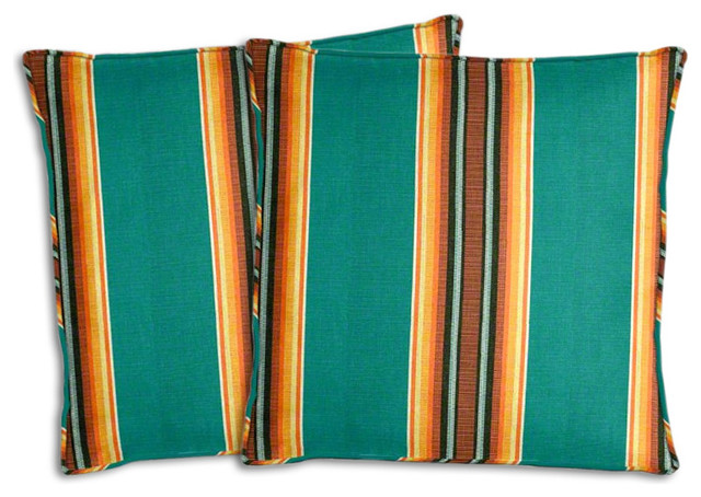 Sunbrella Traveler Lakeside Pillow Set Southwestern Outdoor Cushions And Pillows