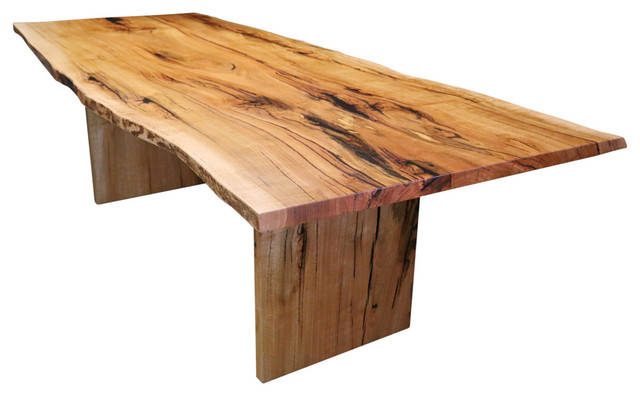 Natural Edge Dining Table Rustic Dining Tables Other Metro By Eclipse Handcrafted Furniture