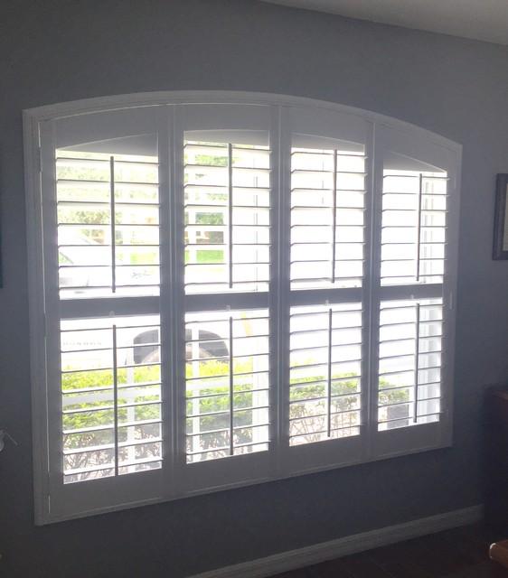 Interior Plantation Shutters Traditional Living Room