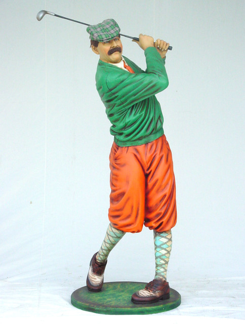 Classic Golfer Statue 75 H Home Decor Dallas By The