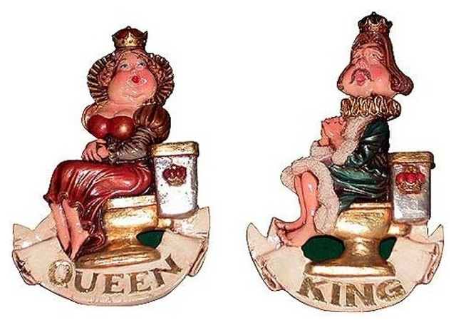 King and queen bathroom sign home decor dallas by for Queen bathroom decor