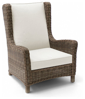 Wicker Wing Chair Contemporary Outdoor Lounge Chairs