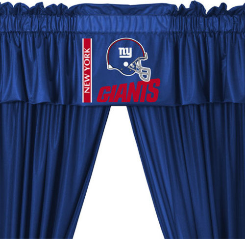 Nfl New York Giants 5 Piece Curtains And Valance Set