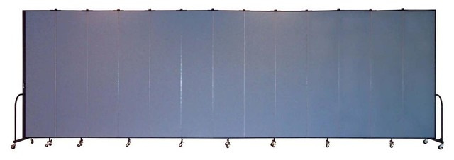 Freestanding 96 in Portable Room Divider w 13 Panels