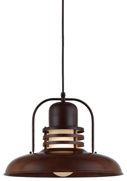 THE HALO MERCURY CORD HUNG COPPER & BRASS CEILING LIGHT Farmhouse Flu