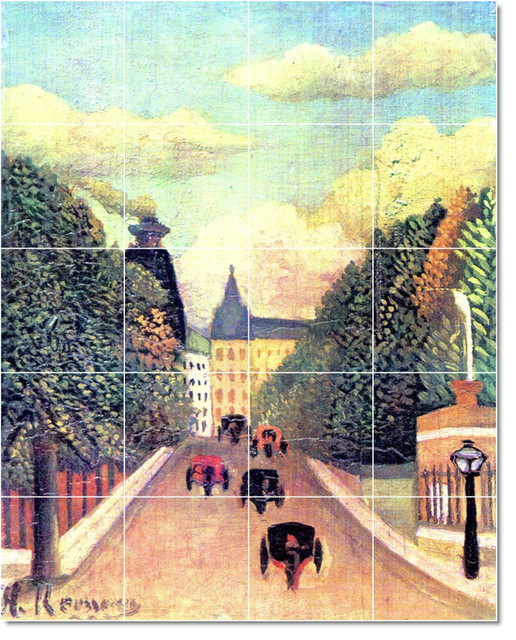 Jean jacques rousseau poster art painting ceramic tile for Poster mural 4 murs