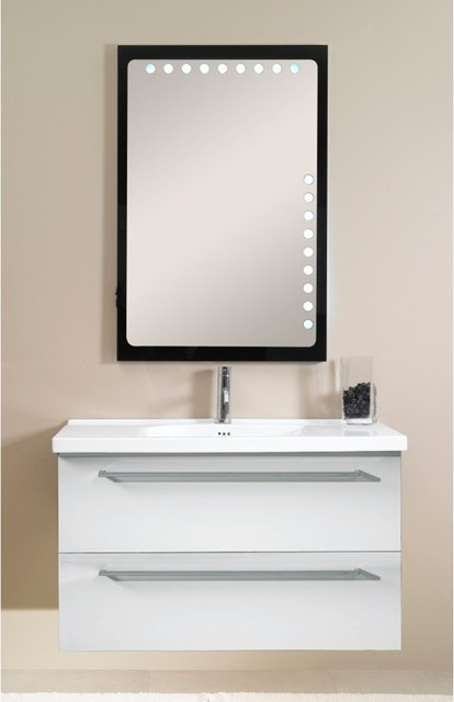 drawer vanity set with lighted mirror contemporary bathroom vanities. Black Bedroom Furniture Sets. Home Design Ideas