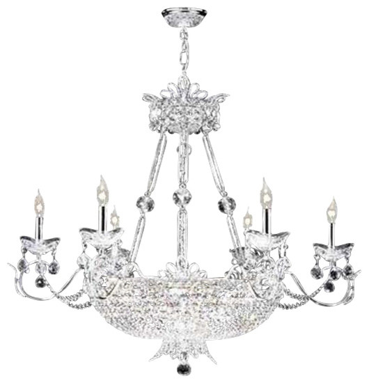 94112g22 james r moder princess chandelier - transitional - chandeliers