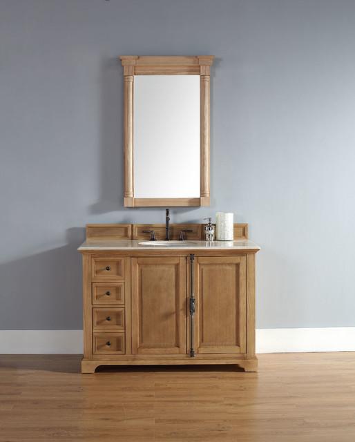 48 Inch Providence Natural Oak Single Sink Vanity Rustic Bathroom Vanities An