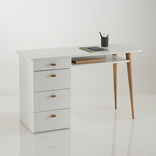bureau 4 tiroirs jimi contemporain meuble bureau et secr taire par la redoute int rieurs. Black Bedroom Furniture Sets. Home Design Ideas
