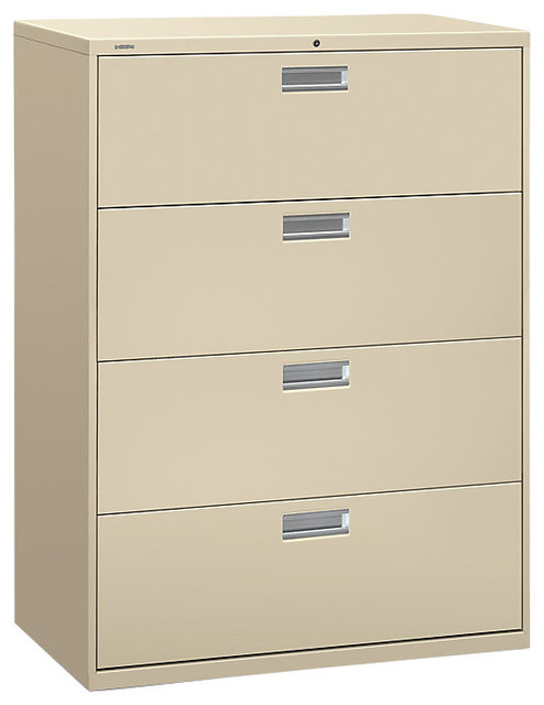 "Brigade 600 4-Drawer Lateral File, 42"" Wide - Contemporary - Filing Cabinets - by SmartFurniture"