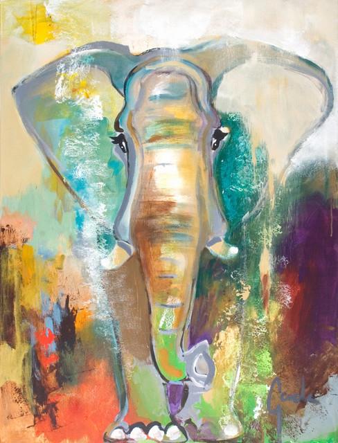 """Elephant Dream"" Contemporary Large Artwork - Contemporary - Paintings - by Scandinavian Art Factory"