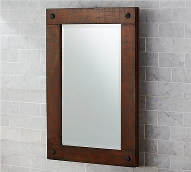 Benchwright Medicine Cabinet, Recessed, Rustic Mahogany stain - Traditional - Medicine Cabinets ...
