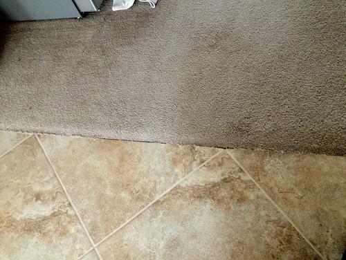 Ceramic tile carpet transition strips