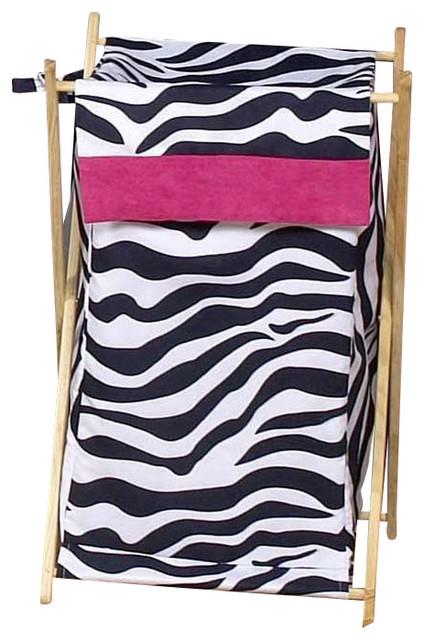 Pink Zebra Hamper Contemporary Hampers