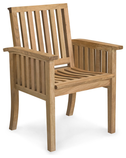 Teak Dining Armchair With 40 Cushion Options Craftsman
