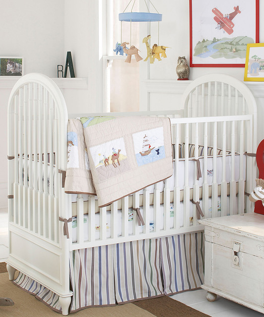 Khaki adventure crib bedding set modern baby bedding - Modern baby bedding sets ...