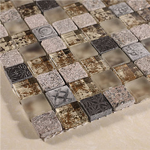 Brown stone crystal scrub three dimensional relief for 14 wall street 23rd floor