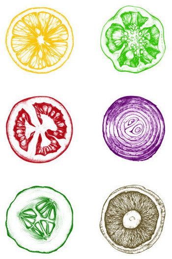 Fruit And Vegetable Print By Poster Guy Contemporary