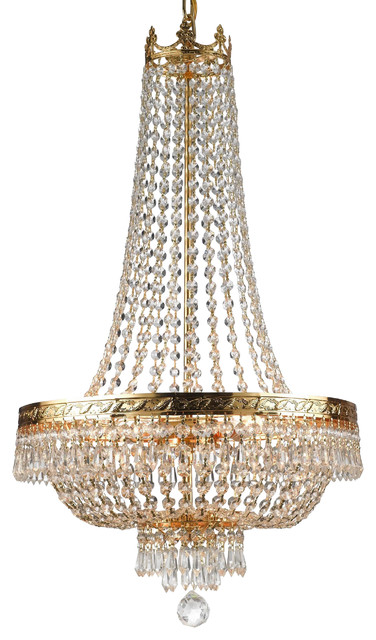 French Empire Crystal Chandelier