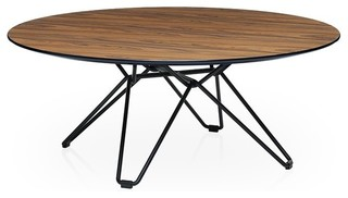 tio table basse ronde plateau bois eclectic coffee
