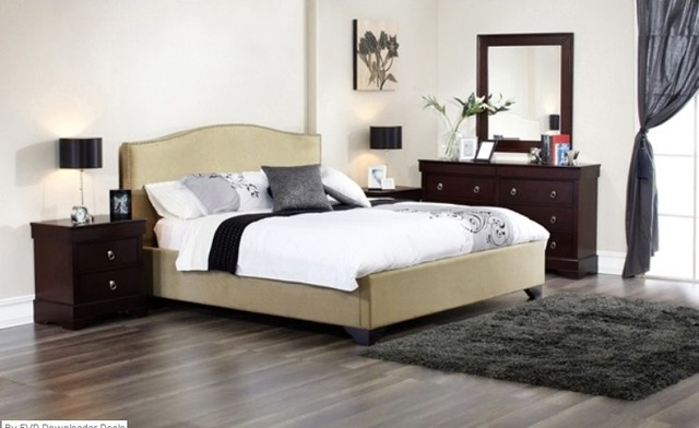 Lifestyle Solutions Magnolia Queen Bed Contemporary Beds Miami