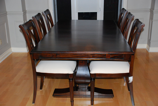 Solid wood dining room furniture for Dining table latest model