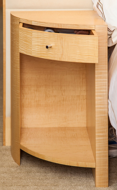 Good Tiger Maple Bedroom Suite Modern Nightstands And Bedside Tables .