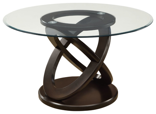 Inch Round Tempered Glass Dining Table Contemporary Dining Tables