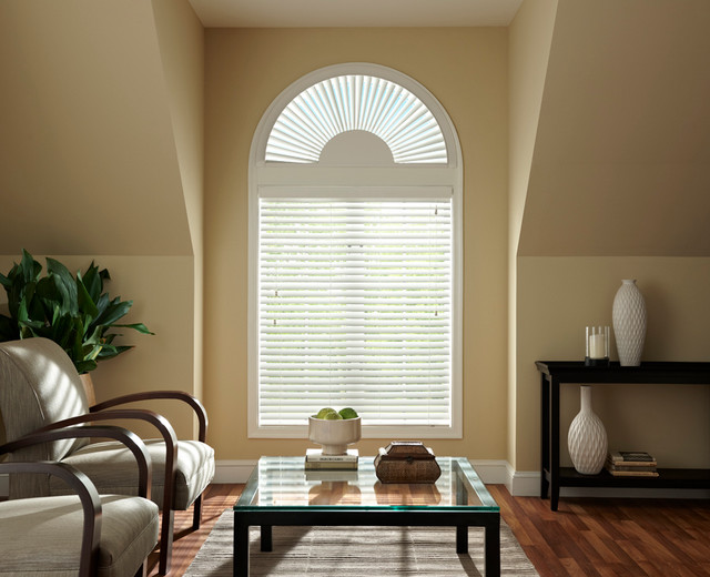 Bali Faux Wood Arch Blinds - Contemporary - Venetian ...