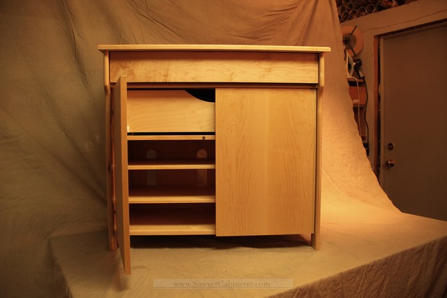 ... Modern style maple stereo cabinet modern-accent-chests-and-cabinets