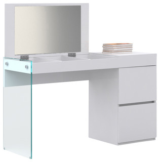 Il Vetro Collection Vanity By Casabianca Home Modern Bedroom Makeup