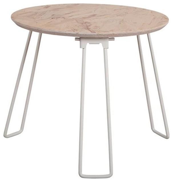 table basse m tal fluo osb medium couleur blanc moderne table basse par. Black Bedroom Furniture Sets. Home Design Ideas