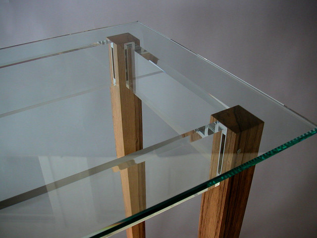 Black Limba Console Table with Acrylic and Glass - Contemporary - Side Tables And End Tables ...