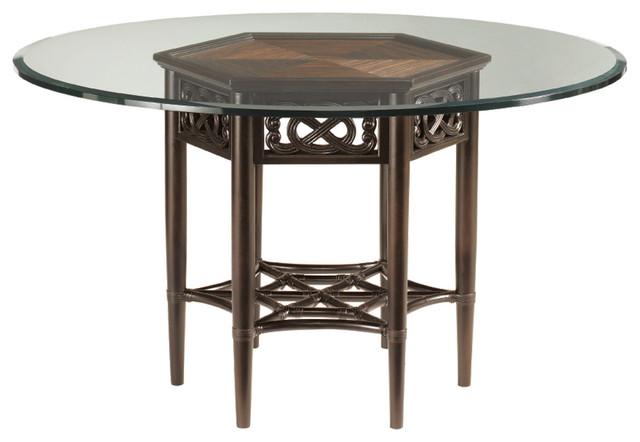 Tommy bahama royal kahala sugar and lace table base for Traditional dining table bases