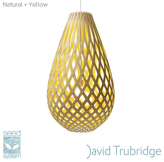 David Trubridge Koura Pendant Light Yellow