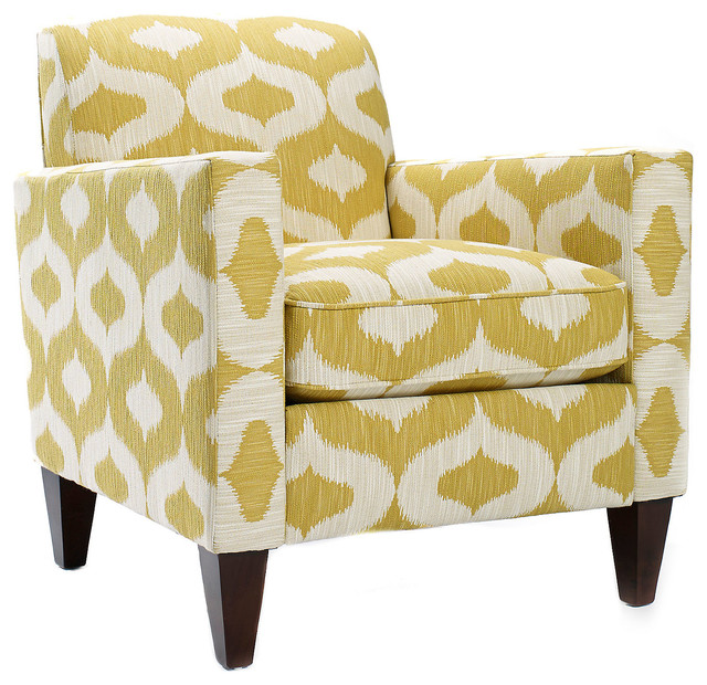 Sandy Cotton Chair Yellow White Contemporary