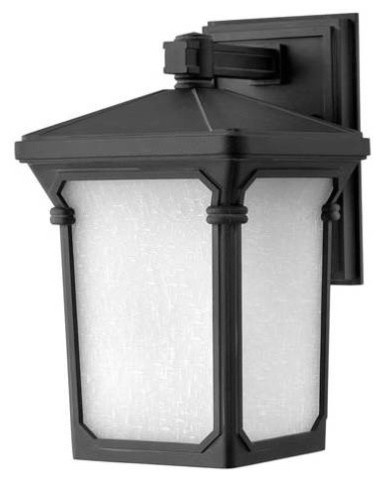 Hinkley 1350MB Stratford Collection 1 Light Outdoor Wall Mount In Museum Blac