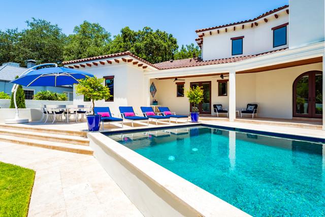 Mediterranean with contemporary flair mediterranean for Flair custom homes