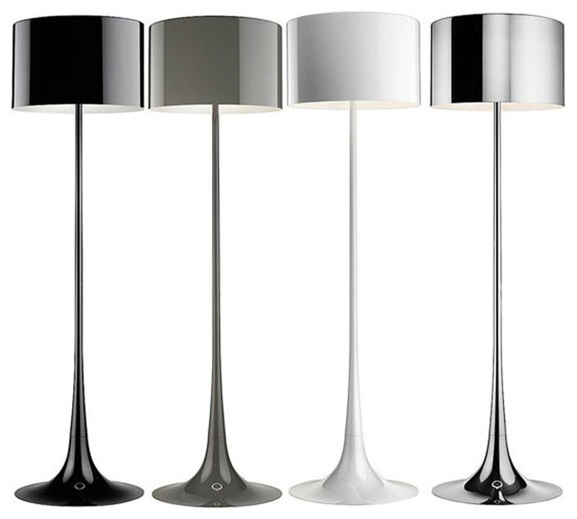 spun floor lamp black contemporary floor lamps by macer home. Black Bedroom Furniture Sets. Home Design Ideas