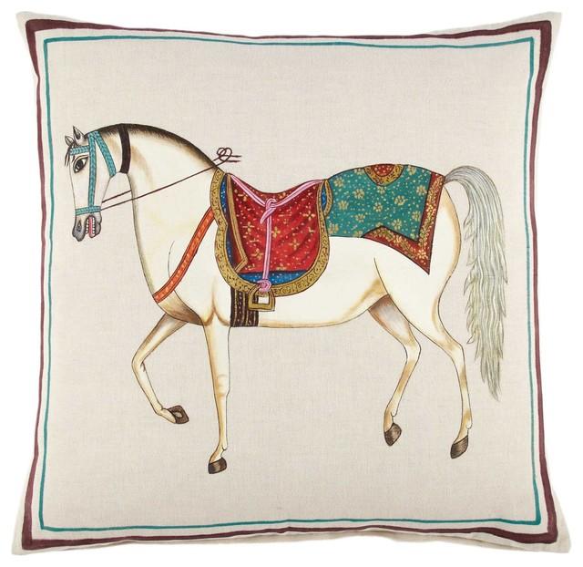 Decorative Horse Pillows : Horse Decorative Pillow - Eclectic - Decorative Pillows - by John Robshaw Textiles