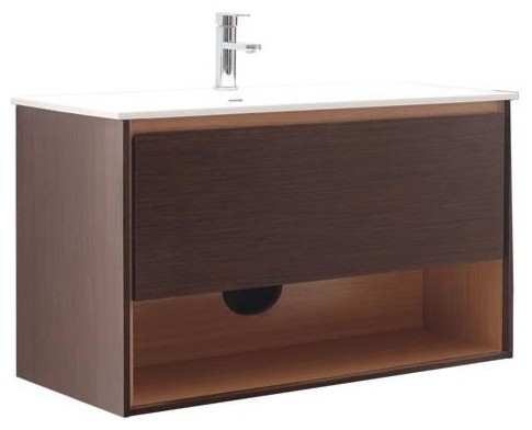 vanity in iron wood finish contemporary bathroom vanities and sink
