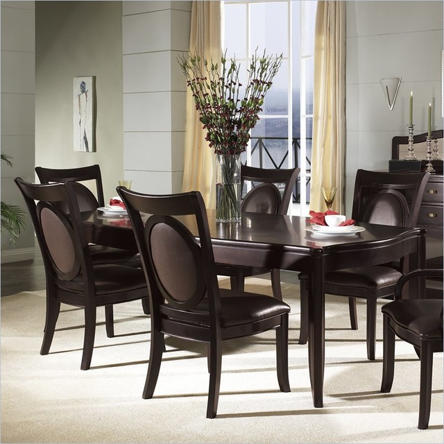 Somerton Signature Rectangular Table 9 Piece Dining Set Contemporary Dini
